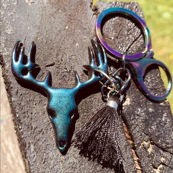 Deer's skull keychain